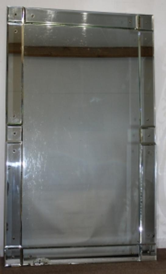 Vintage Mirror With Square Corners