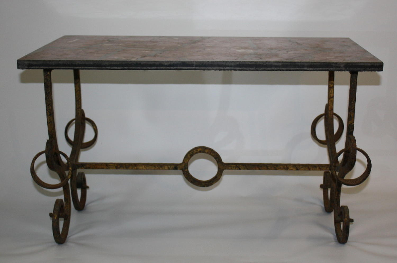 Spanish Coffee Table with Marble Top