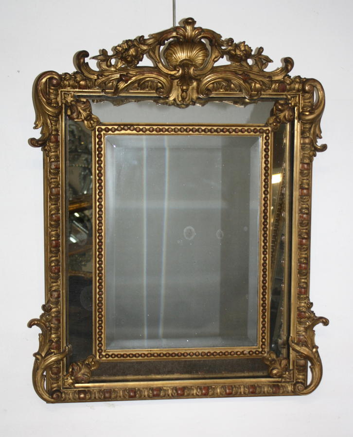 Small Cushioned Gilt Mirror