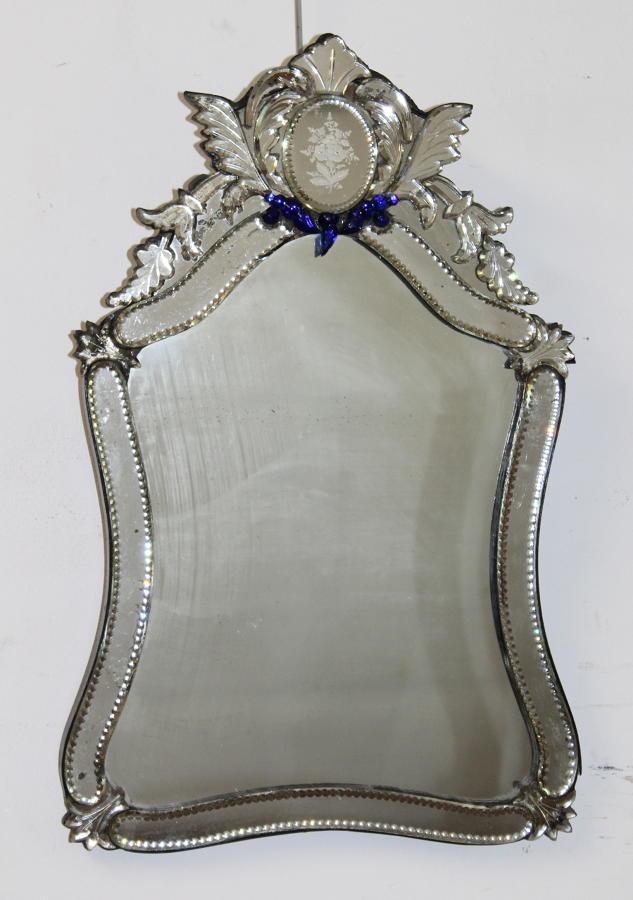 19thC Curvy Tabletop Venetian Mirror