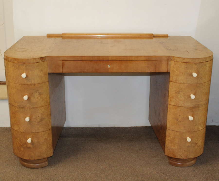 Vintage wych elm Deco style desk