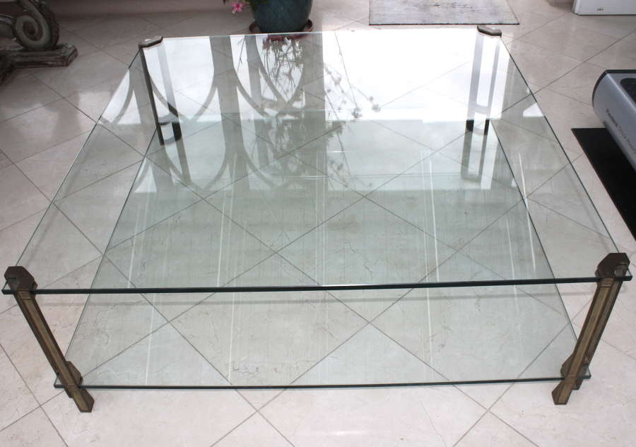 Large, two tier Peter Ghyczy coffee table