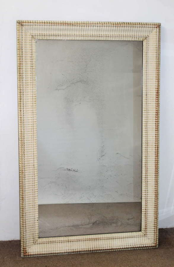 Early 19th century French ripple framed mirror