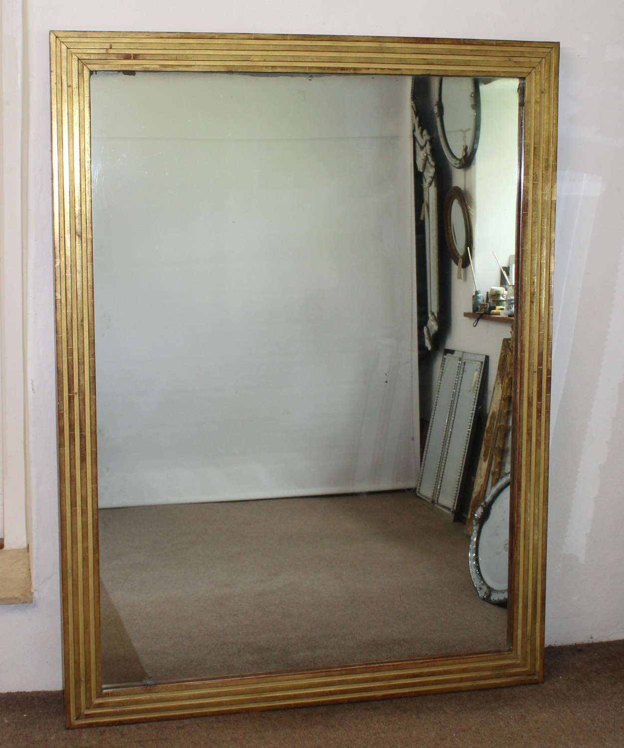 Large antique French Directoire period mirror