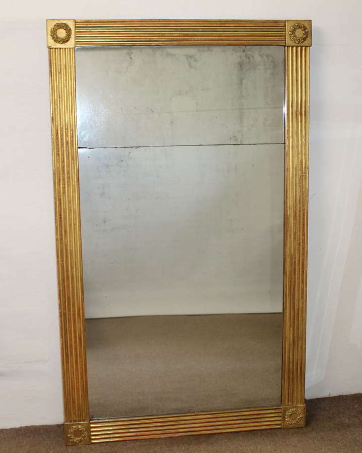 Large Antique French Pier Glass
