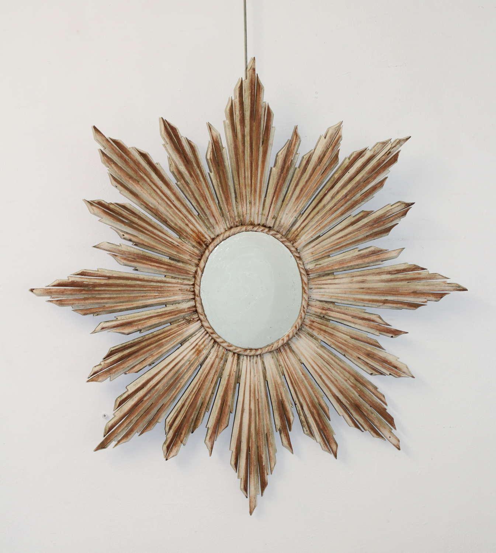 Vintage painted sunburst mirror